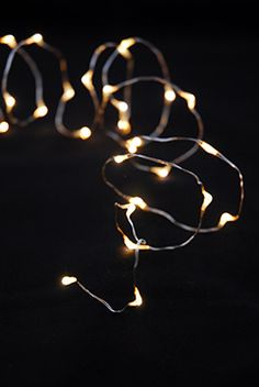 6.99 SALE PRICE! Embellish your displays with dreamy light using these warm white Firefly Lights. This 7' strand of 30 LED lights comes on a pliable silver w...