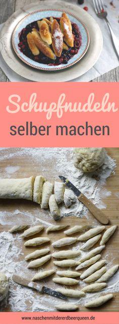 Selbst gemachte Schupfnudeln mit Beeren. Wie du Schupfnudeln selbst machen kannst, erkläre ich dir auf meinem Blog. Schupfnudel Rezept mit Kartoffeln.