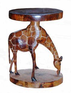 Giraffe Lamp Table / Stool