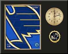 St Louis Blues Team Logo Photo Inserted In A Gold Slide In Frame & Mounted On A Plaque With Arabic Clock -Awesome & Beautiful-Must For Any Fan! Art and More, Davenport, IA http://www.amazon.com/dp/B00NHU0T9M/ref=cm_sw_r_pi_dp_EnUwub0HDQGJD