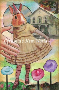 Little Bertie in the Garden  Anthropomorphic by GerushiasWorld, $14.00