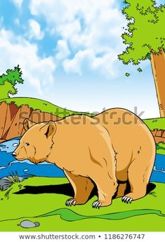 Grizzly Bears Mammals Animal Illustration with smooth graphics and full coloring. So that the illustration of this Grizzly Bears animals will be interesting when used as an image of supporting material. Grizzly Bear Animal, Grizzly Bears, Mammals, Royalty Free Stock Photos, Coloring, Smooth, Graphics, Illustration, Pictures