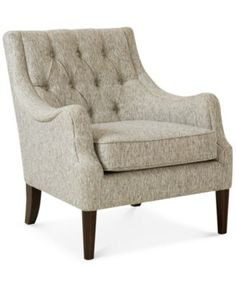 Glenis Tufted Accent Chair, Direct Ship | macys.com