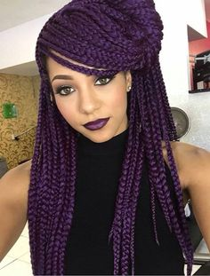 Purple And Black Braids Idea dark purple box braids braided hairstyles box braids Purple And Black Braids. Here is Purple And Black Braids Idea for you. Purple And Black Braids 91 fun yarn braid ideas that you will love sass. Purple Box Braids, Colored Box Braids, Short Box Braids, Blonde Box Braids, Jumbo Box Braids, Black Braids, Purple Hair, Long Braids, Haircut Styles