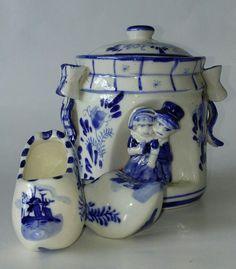 Pote e tamancos Holandês Porcelana