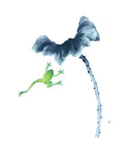 Yun Ju frog art watercolor