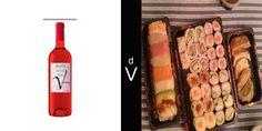 Cepa Ineo Rosado con sushi.