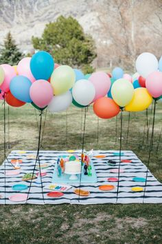 Balloons and books baby shower - perfect for the mother-to-be who loves to read!