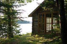 Log cabin on Mount Desert Island, Maine. Contributed by Zoe van Buren.