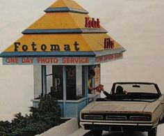 FOTOMAT DRIVE THRU Kodak Film Vintage Photo Advertisement by Christian Montone. Dropped off many a roll of film at one of these. Thanks For The Memories, Great Memories, Childhood Memories, School Memories, Childhood Toys, Cherished Memories, Childhood Friends, Photo Vintage, Vintage Photos