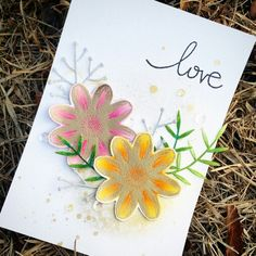 Spring love card  #papercrafts #card making #stamps #스탬프아트카드 #스탬프 #핸드메이드카드 #수제카드 #distressblending #watercoloring