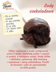 Domowe lody czekoladowe.