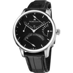 Maurice Lacroix Men's MP6518-SS001330 MasterPiece Black Leather Strap Watch Maurice Lacroix. $7398.75. Swiss automatic movement. Water-resistant to 50 M (165 feet). Stainless steel case. Sapphire crystal. Power reserve indicator