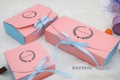 10 X Pink Gift boxes chocolate box cookie box by Naturalworld1990
