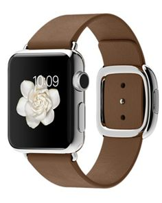 Shop Apple Watch 38mm Stainless Steel Case with Brown Modern Buckle online at lowest price in india and purchase various collections of Smart Watches in Apple brand at grabmore.in the best online shopping store in india