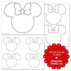 printable Minnie Mouse outline