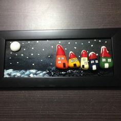 #art #handmade #pebbleart #houses #sweat #frame #special