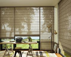 Alustra® Woven Textures® Roman Shades PowerRise® With Platinum™ Technology.  Find This Pin And More On Home Office Window Treatments ...