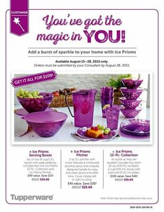 Tupperware Ice Prisms are in that perfect purple to brighten up any day! Limited time offer! Contact me at 501-773-0276 to get yours ordered!  my.tupperware.com/yourtupperlady