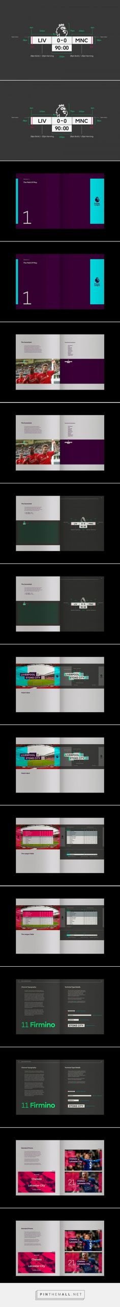 Premier League TV Guidelines by DixonBaxi — The Brand Identity... - a grouped images picture - Pin Them All