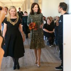 """Crown Princess Mary of Denmark attends the """"St. Loye Prize 2015"""" ceremony at Round Tower on October 2, 2015 in Copenhagen, Denmark."""