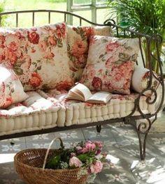 Love these barkcloth pillows