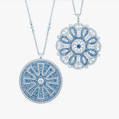 Montana sapphire and diamond pendants of perfect symmetry #Padgram