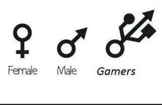 Click the link/image to see the full pic & story! http://giantgag.com/gags/female-vs-men-vs-gamers?pid=896
