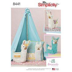 Items similar to Llama Stuffed Animal Pattern, Llama Toy Animal Pattern, Childs' Toy Llama Pattern, Simplicity Sewing Pattern 8441 on Etsy Llama Stuffed Animal, Sewing Stuffed Animals, Stuffed Animal Patterns, Stuffed Toys, Applique Pillows, Sewing Pillows, Diy Pillows, Alpacas, Sewing Crafts