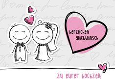 Herzlichen Glückwunsch zu Eurer Hochzeit | Glückwünsche | Echte Postkarten…