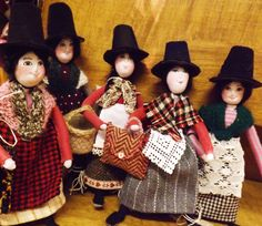 Handmade Charming Welsh Lady in Traditional Welsh Costume Charming Welsh lady dressed in vintage wool and lace and carrying a mini basket or bag. Each one has her own unique character and is wired.As Each Doll is Unique we cannot Guarantee it will be one in the Photograph. If you require a certain colour please send us a message we will do our best to find one you will love Handmade in Pembrokeshire by Heulwen ThomasHeight approx. 23cmPlease note, this is a decorat...