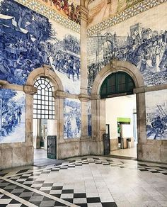 SUCH a glorious room! The Sao Bento train station in Porto, Portugal. Visit Portugal, Spain And Portugal, Portugal Travel, Portugal Porto, Portugal Trip, Delft, Anastasia, Places To Travel, Places To See