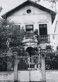Casa do escritor Machado de Assis e de sua esposa, Carolina, na Rua Cosme Velho nº 18,  Rio de Janeiro - Brasil (demolido)