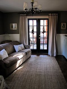 Was Dining Room Now Living Black French DoorsInterior
