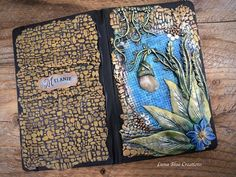 Healing Stone Personalized Journal Polymer Clay Flower Custom Sketchbook, Clay Minerals, Custom Journals, Polymer Clay Flowers, Journal Covers, Altered Books, Healing Stones, Journal Ideas, Mosaics