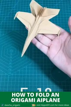 A very detail guide showing how to fold an origami airplane. More samples at my website Origami Simple, Instruções Origami, Paper Crafts Origami, Origami Videos, Origami Hard, Origami Boxes, Dollar Origami, Origami Bookmark, Oragami