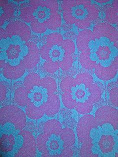 vintage 1970s curtain fabric