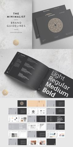 Our Bestseller --- The Minimalist Brand Guidelines template is a Swiss Style inspired design available in both and US letter sizes. Corporate Identity Design, Brand Identity Design, Identity Branding, Brand Guidelines Design, Brand Guidelines Template, Web Design, Logo Design, Layout Design, Editorial Design