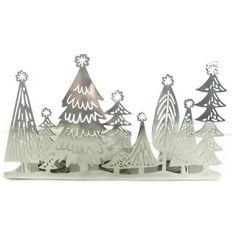 Better Homes and Gardens Silver Tree Rail Candle Holder