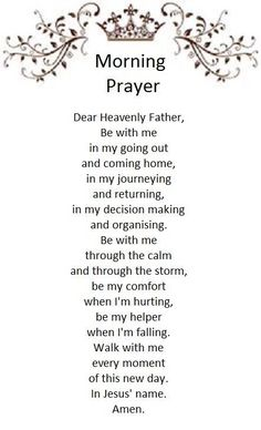 Prayer Scriptures, Bible Prayers, Faith Prayer, Catholic Prayers, God Prayer, Power Of Prayer, Morning Prayer Catholic, Bible Verses, Prayer Room