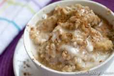 If you love Cinnamon Rolls this is the next best thing! You have to try this AMAZING Crockpot Cinnamon Roll Oatmeal Recipe!