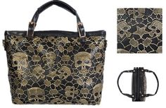 Skull & Star Laced Leather HandBag | Pyrefly