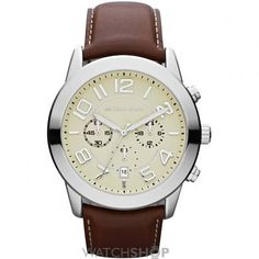Shop for Michael Kors Men's Chronograph Mercer Mahogany Leather Strap Watch. Get free delivery On EVERYTHING* Overstock - Your Online Watches Store! Michael Kors Outlet, Michael Kors Mercer, Cheap Michael Kors, Mercer Watch, Cool Watches, Watches For Men, Fancy Watches, Women's Watches, Wrist Watches