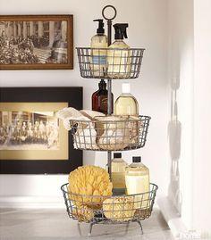Farmhouse 2Tier Storage  Decor  Furniture  Pinterest  Storage Impressive Bathroom Countertop Storage 2018