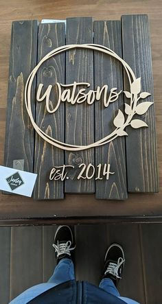 Teacher Signs Discover Custom Home Date Sign / Pallet Sign / Rustic Wood Sign / Established Sign / Wall Art / Custom Wood Sign / Home Decor / Realtor gift Wood Signs Home Decor, Diy Wood Signs, Rustic Wood Signs, Custom Wooden Signs, Personalized Wood Signs, Reclaimed Wood Signs, Carved Wood Signs, Wood Pallet Signs, Metal Signs