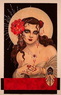 The dreamlike world of Christopher Conn Askew Illustrations, Illustration Art, Princesa Real, Art Jokes, Gorgeous Tattoos, Flash Art, Cover Up Tattoos, Vintage Art, Tattoo Artists
