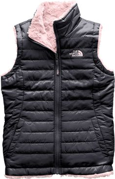 The North Face Girls  Reversible Mossbud Swirl Insulated Vest 055175037