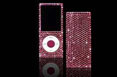 CrystalRoc will customise your iPod Nano, this one is done in shocking pink..
