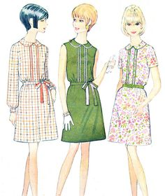 1960s Dress Pattern McCalls 9153 Belted Peter Pan by paneenjerez, $14.00