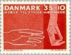 Stamp: Hands (Denmark) (Natnl.Society for Welfare of the Mentally Ill - 25th.Anniv.) Mi:DK 415x,Sn:DK B30,Yt:DK 428,Sg:DK 454,AFA:DK 418